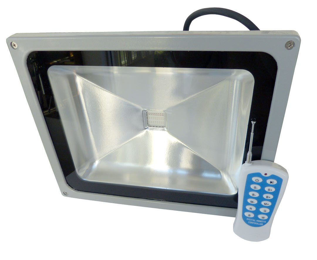 rgb led flood light lamp 110v 265v 50w floodlight outdoor. Black Bedroom Furniture Sets. Home Design Ideas