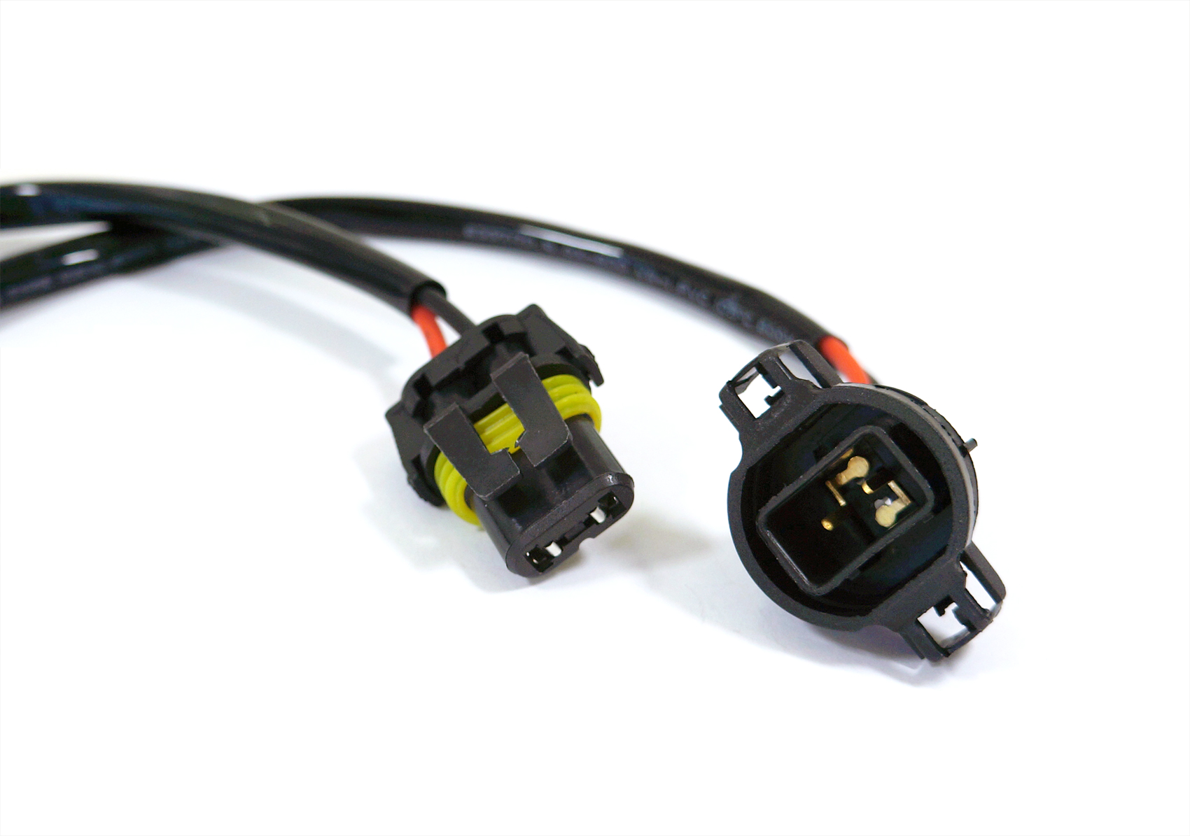Hid Wire Harness Cable Ballast To Socket Plug 5202 H16 9009 Two 2504 Ps24w Adapter For Fog Lights Drl Relay Wiring Ebay High Performance 9008 Plugs