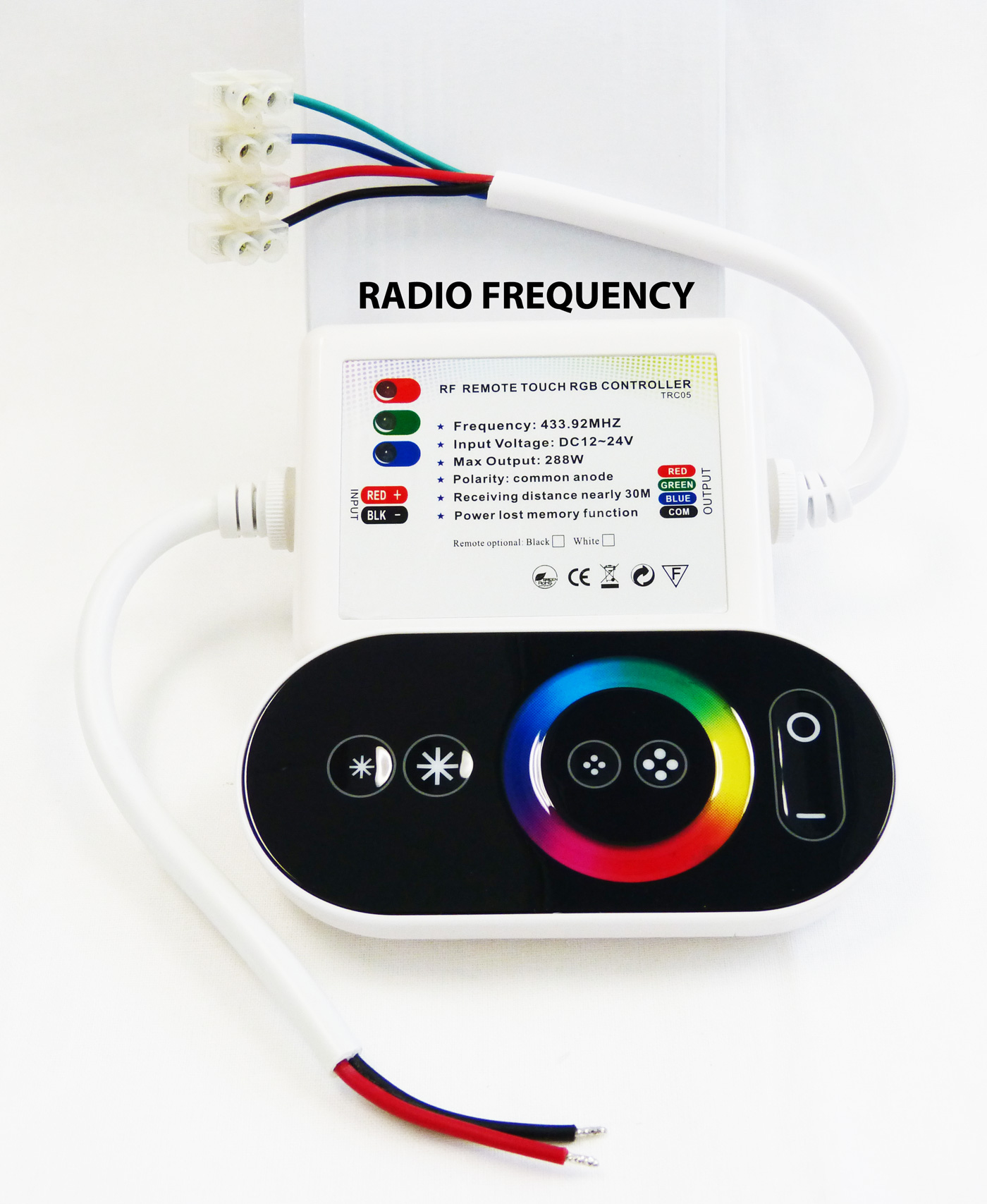 Black Touch Panel Rgb Controller For Led Strips Radio