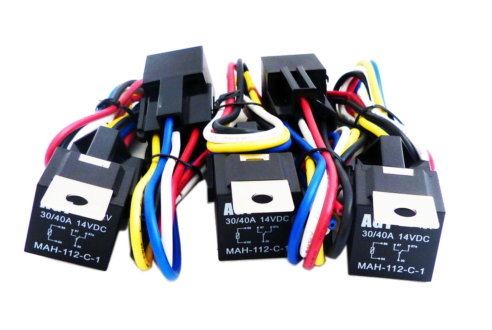 2pk 12v 40 Amp Relays Spdt Bosch Style Relay  U0026 5