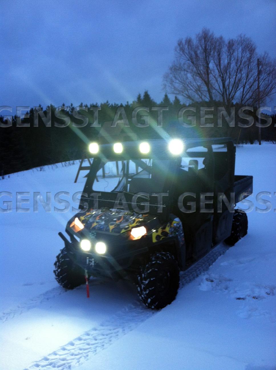 Flood lights for utv : W led flood lights for artic cat sport utility up
